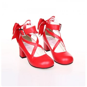 ESCARPINS ROUGES CUIR LOLITA