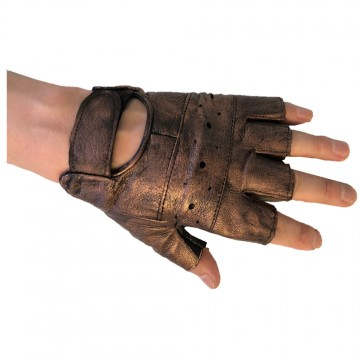 MITAINES CUIVRE STEAMPUNK FORCES CUIR