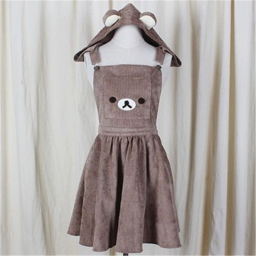 SALOPETTE RILAKKUMA KAWAII OURS MARRON