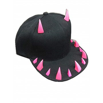 CASQUETTE MIXTE BASEBALL HIP HOP DENTS GRIFFES ROSE