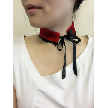 CHOKER RAS DE COU DENTELLE VELOURS BORDEAUX SIMPLE