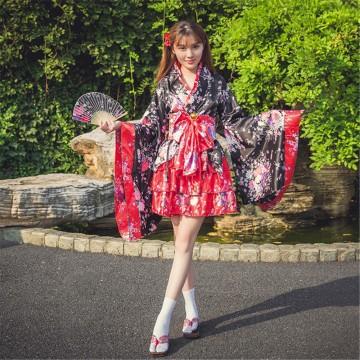 KIMONO FEMME SAKURA JAPONAIS TRADITIONNEL DEGUISEMENT