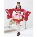 ENSEMBLE COSPLAY LOVELIVE KIMONO FEMME YUKATA ROUGE