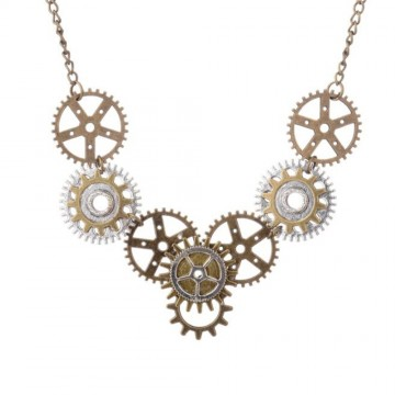COLLIER STEAMPUNK ENGRENAGES