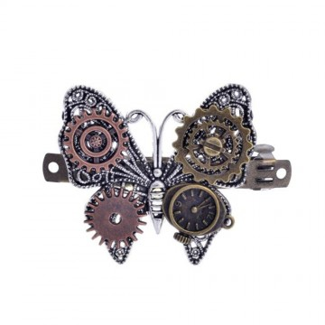 EPINGLE CHEVEUX STEAMPUNK PAPILLON