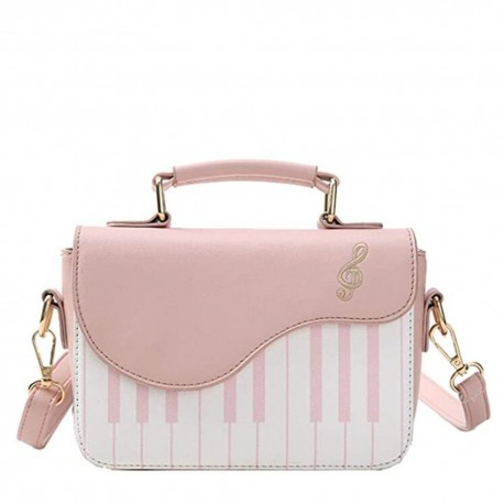 SAC BANDOULIERE FEMME PIANO ROSE