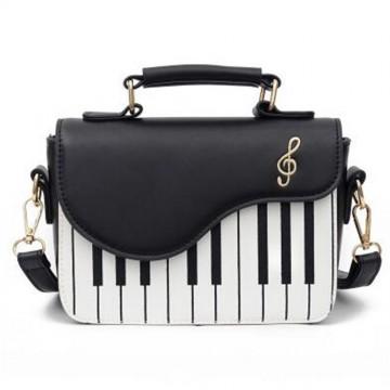 SAC BANDOULIERE FEMME PIANO NOIR