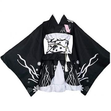 ENSEMBLE COSPLAY KIMONO FEMME YUKATA KASUGANO SORA