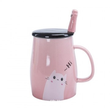TASSE CHAT COUVERCLE CUILLERE