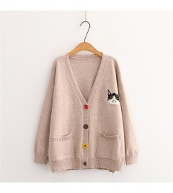 PULL FEMME CHAT BEIGE AUTOMNE HIVER