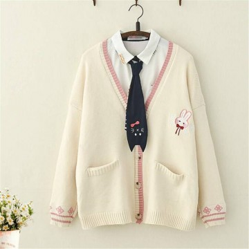 PULL FEMME LAPIN BEIGE AUTOMNE HIVER