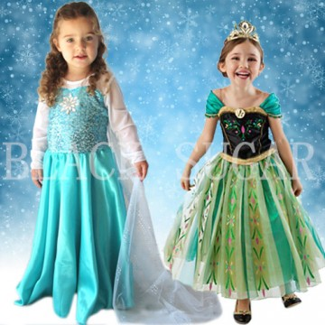 ROBE DUO ENFANT PRINCESSE ELSA