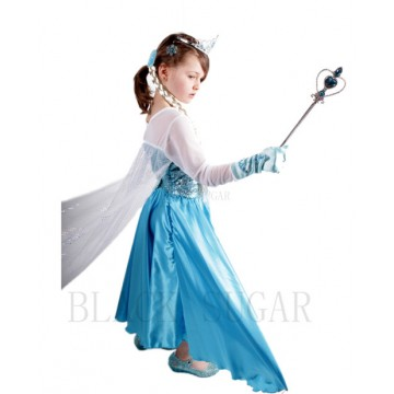 LOT : COSPLAY ROBE BLEUE PRINCESSE + ACCESSOIRES ASSORTIS