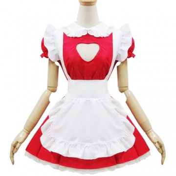 ROBE MAID ROUGE COEUR