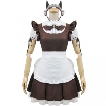 ROBE NEKO MAID MARRON