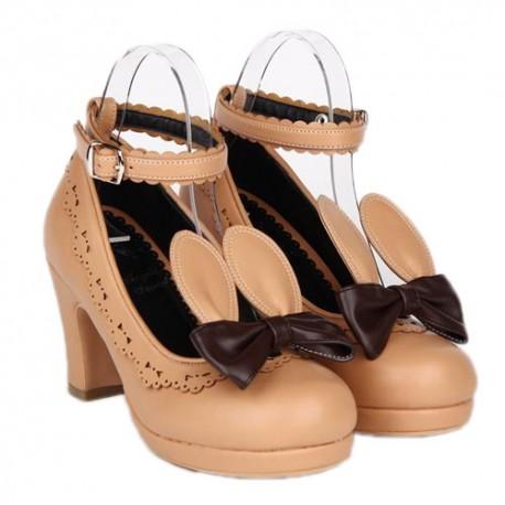 Lolita Chaussures Black Nouveaute Neko Talon 8cm Sugar Lapin Tu1cl3FKJ