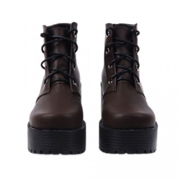 BOTTINES LOLITA MARRON TALON 8CM
