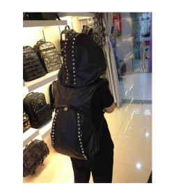 GILET SAC GOTHIQUE RIVETS METALLIQUE