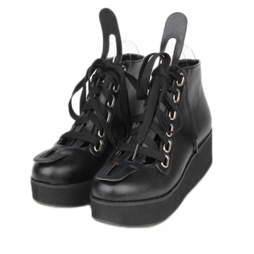 BOTTINES NOIRES CUIR