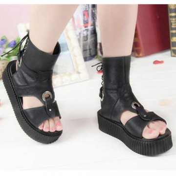 CREEPERS NOIRES CUIR