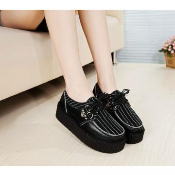 CREEPERS NOIRES RAYEES