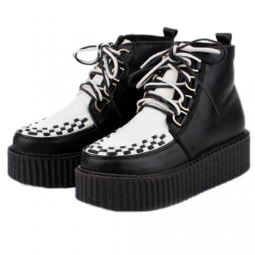 BOTTINES BLANCHES CREEPERS