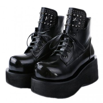 BOTTINES NOIRES CREEPERS