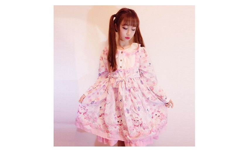 Robes lolita à imprimés kawaii