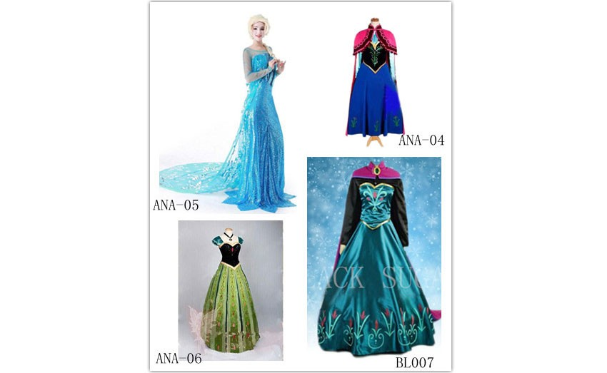 Costumes, robes Reines des neiges pour adulte